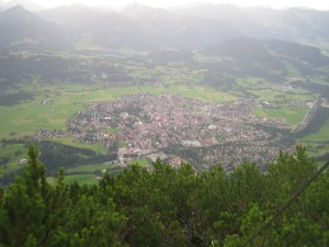 Gipfelblick nach Oberstdorf