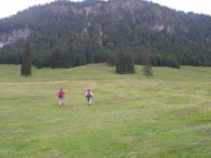 Eingang Anstieg zum Schattenberg, hier erstmal gerade aus.