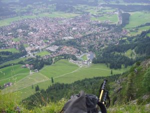 """Halbzeit! """"Aussichtsplatz"""" Richtung Westen auf Oberstdorf"""