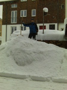 Schneelieferung 15. Februar in Obertdorf im Allgäu